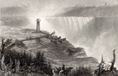 The Niagara Falls - Horse Shoe Fall - Terrapin Tower (Canada - United States of America)