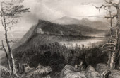 View of Catskill Mountains - Appalachian Mountains - Lakes (New York - United States of America)