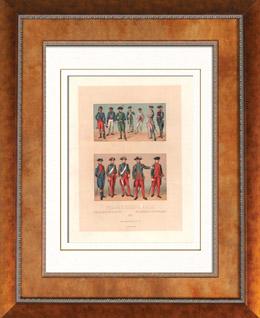 Französische Mode - Französische Königliche Marine - 18. Jahrhundert - XVIII. Jahrhundert