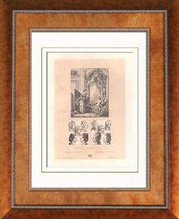 Französische Mode - Frankreich - 18. Jahrhundert - XVIII. Jahrhundert - Perücken von Frauen und von Kindern