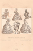 Franz�sische Mode - Frankreich - 18. Jahrhundert - XVIII. Jahrhundert - Adel - B�rgerlichen - Abendkleid - Frisieren - Coiffure � la Victoire