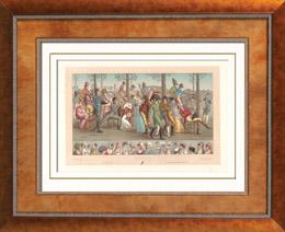 Französische Mode - Herrschaft von Kaiser Napoleon I - Konsulat - 1803 - Spaziergang zu Longchamp - Paris