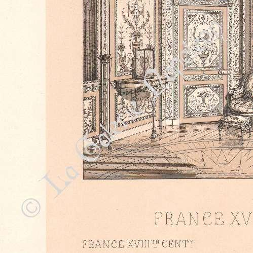 Gravures anciennes d coration france 18 me si cle for Decoration 18eme siecle