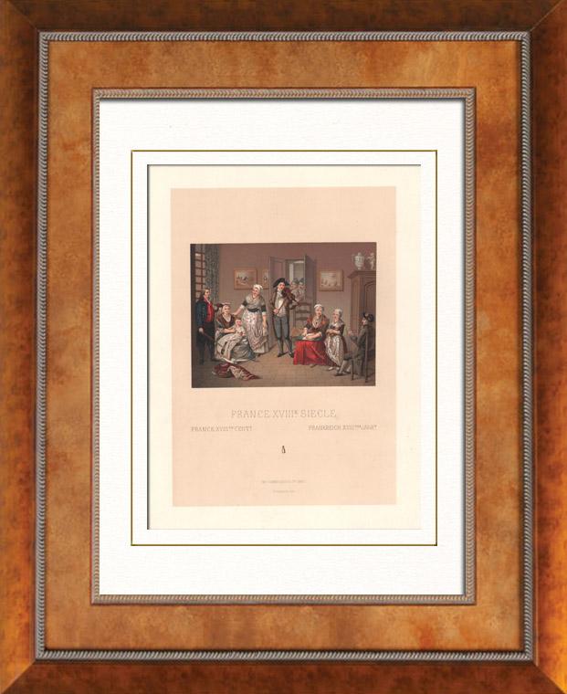 Gravures anciennes gravures de costume 18 me si cle for Interieur 18eme siecle