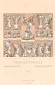 Franz�sische Mode - XVIII. Jahrhundert - Frau - Haar - Frisieren - Haartracht - Hut - Zweite H�lfte der Herrschaft von Ludwig XVI. von Frankreich