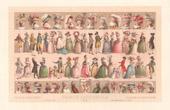 Franz�sische Mode - Frankreich - 18. Jahrhundert - XVIII. Jahrhundert - Kleid - Hut - Frisieren - Haarschneiden - Haartracht - Kopfputz