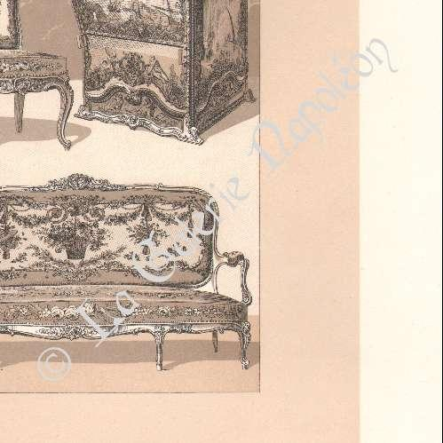 gravures anciennes meubles anciens europe 18 me si cle xviii me si cle si ge chaise. Black Bedroom Furniture Sets. Home Design Ideas