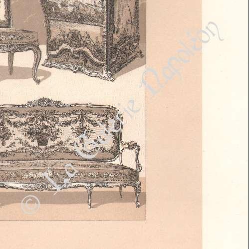 gravures anciennes lithographie de meubles anciens europe 18 me si cle xviii me si cle. Black Bedroom Furniture Sets. Home Design Ideas