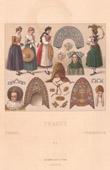 Franz�sische Mode - Elsass - XVII. Jahrhundert - XIX. Jahrhundert - Regionale Trachten und Kleider - Frisieren - Haartracht - Kopfputz
