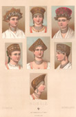 Traditionelle Kleidung - Russland - 19. Jahrhundert - XIX. Jahrhundert - Kopfputzen von B�rgerlichen
