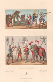 Fashion and Costumes - Middle Ages - XVth Century - Military Uniform - Artillery - Archer - Bowman - Crossbowman