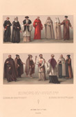 Mode und Kost�me - Europa - Polen - Deutschland - Flandern - Religion - M�nchen - Von XV. Jahrhundert im XVIII. Jahrhundert