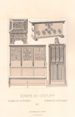 Furniture - Europe - XVth Century - XVIth Century - Door - Chest