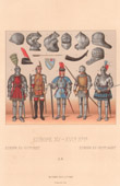 War Costume - Military Uniform - France - XVth Century - XVIth Century - Helmet - Knight - Archer - Bowman