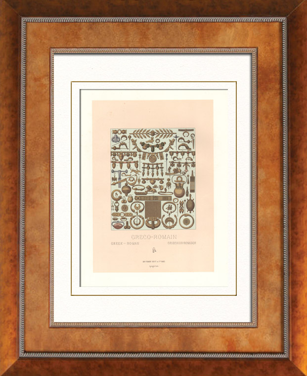Gravures Anciennes & Dessins   Epoque Gréco-Romaine - Orfèvrerie - Joaillerie   Lithographie   1876
