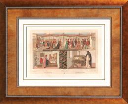 Italienische Mode - Italien - Italienische Tracht und Kleidung - Kost�me - Ehe - Verm�hlung - Klerus - 15. Jahrhundert - XV. Jahrhundert