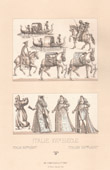 Italian Fashion - Italy - Italian Costume - XVIth Century - Transport mode - Gondola of Venice
