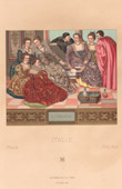 Italienische Mode - Italien - Italienische Tracht - Kostüme - Venedig - 16. Jahrhundert - XVI. Jahrhundert