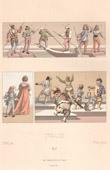 Italienische Mode - Italien - Italienische Tracht - Kostüme - Venedig - Gondoliere - Page - Narr - Zwerg
