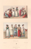 Italian Fashion - Italy - Italian Costume - Women of the Common People - 19th Century - XIXth Century
