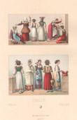Italian Fashion - Italy - Italian Costume - Women of the Common People - 19th Century - XIXth Century