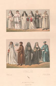 Italienische Mode - Italien - Italienische Tracht - Kost�me - Ordensgemeinschaft - 17. Jahrhundert - XVII. Jahrhundert