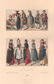 Swiss Fashion - Switzerland - Costume - Peasants - 19th Century - XIXth Century