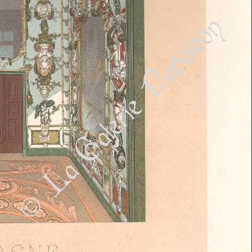 Alte stiche lithographie von dekoration spanien for Dekoration spanien