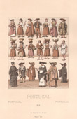 Portuguese Fashion  - Portugal - Farmings - Merchant - Shepherd - Fisherman - Clergy