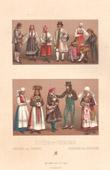 Mode - Schweden - Norwegen - Kostüm - Tracht - Bauer - Regionale Trachten und Kleider - Ehe - Vermählung
