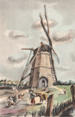 Collection Mills of France 2/68 - Windmill - Danube Mill at Moères - 1752 (North - France)