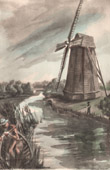 Collection Mills of France 22/68 - Windmill - Sudbrouck - Clairmarais - 1850 - (Pas-de-Calais - France)