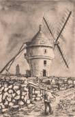 Collection Mills of France 49/68 - Windmill - Masse - White Mill - Batz-sur-Mer - 1368 - (Loire-Atlantique - France)