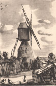 Collection Mills of France 53/68 - Windmill - Moulin de la Croix-Cadeau - Avrill� - 1730 (Maine-et-Loire - France)