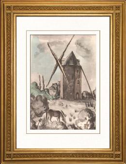 Sammlung Franz�sische M�hlen 60/68 - Windm�hle - Gu�-Sainte-Marie - Les Trois-Moutiers (Vienne - Frankreich)