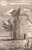Lithographie von Sammlung Französische Mühlen 63/68 - Windmühle - Saint-Cassien - Angliers (Vienne - Frankreich)