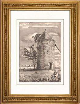 Sammlung Franz�sische M�hlen 63/68 - Windm�hle - Saint-Cassien - Angliers (Vienne - Frankreich)