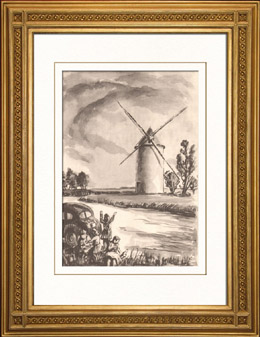 Sammlung Franz�sische M�hlen 65/68 - Windm�hle - Bellien - Mazeuil (Vienne - Frankreich)