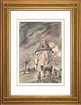 Sammlung Französische Mühlen 66/68 - Windmühle - Bénesse-lès-Dax (Landes - Frankreich)