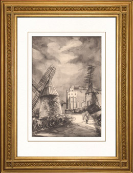 Sammlung Franz�sische M�hlen 67/68 - Windm�hle - Caignac (Haute-Garonne - Frankreich)