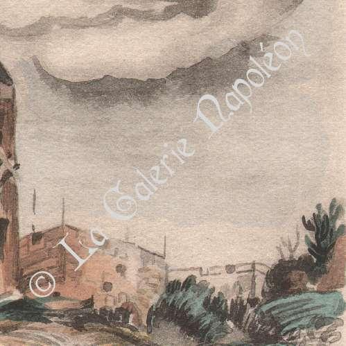 Antique prints lithography of collection mills of france for Info regionale bouche du rhone