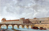 View of Paris - Louvre - Seine - Bridge - Pont du Carrousel