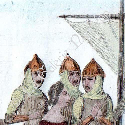 Gravures anciennes lancelot du lac chevaliers de la - Lancelot chevalier de la table ronde ...