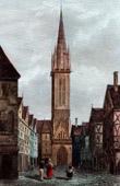 View of Caen - Church Saint-Pierre (Calvados - France)