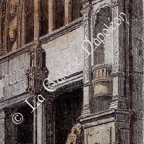 Antique prints view of paris rive droite saint for Domon furniture st eustache