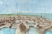 View of Copenhagen - 17th Century - XVIIth Century (Denmark)