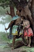 Portr�t von Indigen V�lker H�uptling in Neuseeland