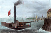 View of New York - Brooklyn - Steamboat (United States of America)