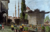 View of Constantinople - Istanbul - Fountain in Scutari (Turkey)