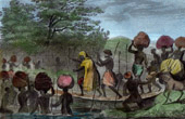 Expedition of René Caillié - Caravan in Masina - Kinshasa (Zaire - Congo)